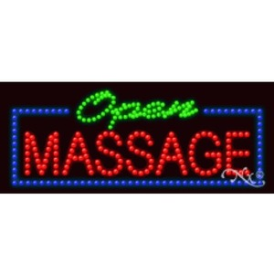"LED Sign - Massage Open 11""H x 27""W x 1""D (20574)"