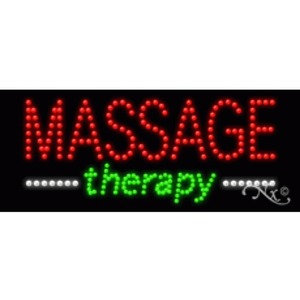 "LED Sign - Massage Therapy 11""H x 27""W x 1""D (20575)"