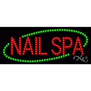 "LED Sign - Nail Spa 11""H x 27""W x 1""D (20585)"