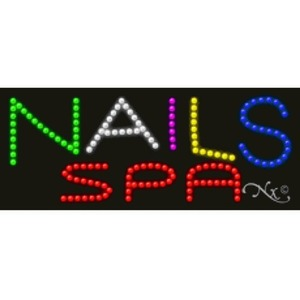 "LED Sign - Nails Spa 11""H x 27""W x 1""D (20589)"