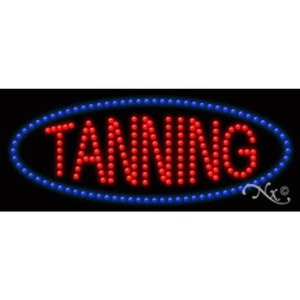 "LED Sign - Tanning 11""H x 27""W x 1""D (20637)"