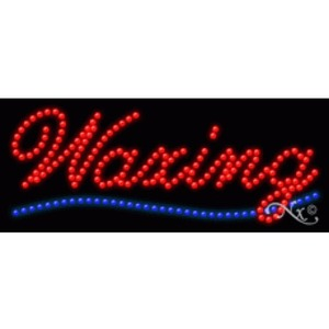 "LED Sign - Waxing 11""H x 27""W x 1""D (20648)"