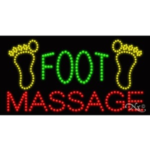 "LED Sign - Foot Massage 17""H x 32""W x 1""D (20679)"