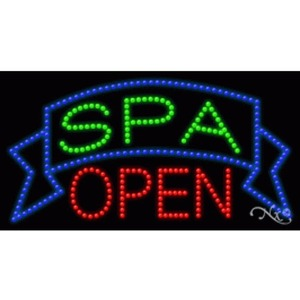"LED Sign - Spa Open 17""H x 32""W x 1""D (20700)"