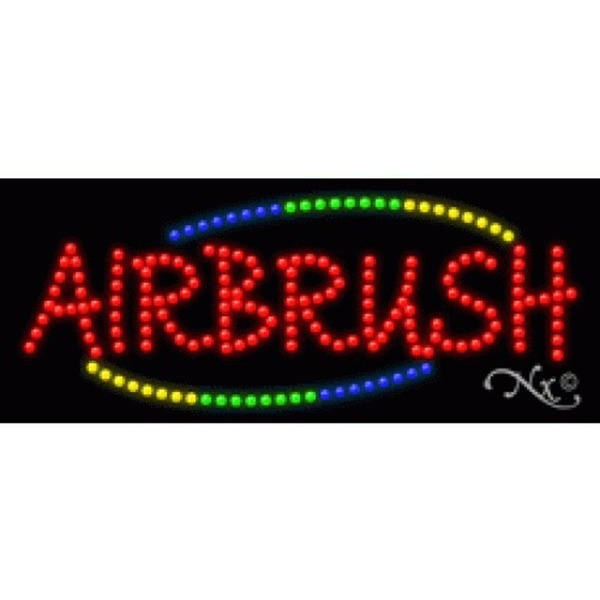 "LED Sign - Airbrush 11""H x 27""W x 1""D (20724)"