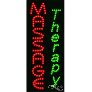 "LED Sign - Massage Therapy 27""H x 11""W x 1""D (21041)"