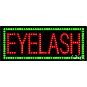 "LED Sign - Eyelash 11""H x 27""W x 1""D (21042)"