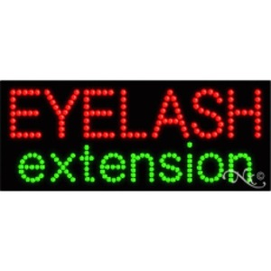 "LED Sign - Eyelash Extension 11""H x 27""W x 1""D (21043)"