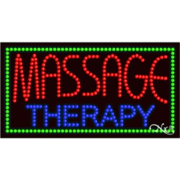 "LED Sign - Massage Therapy 17""H x 32""W x 1""D (21093)"