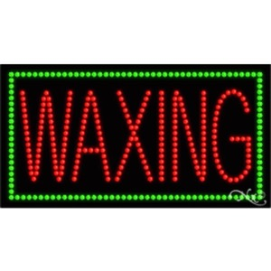 "LED Sign - Waxing 17""H x 32""W x 1""D (21123)"