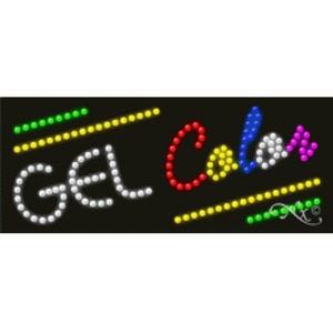 "LED Sign - Gel Color 11""H x 27""W x 1""D (21192)"