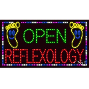 "LED Sign - Open Reflexology 20""H x 37""W x 1""D (21290)"