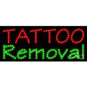 "LED Sign - Tattoo Removal 11""H x 27""W x 1""D (21485)"
