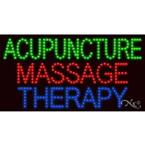 "LED Sign - Acupuncture Massage Therapy 17""H x 32""W x 1""D (21650)"