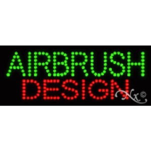 "LED Sign - Airbrush Design 8""H x 20""W x 1""D (22002)"