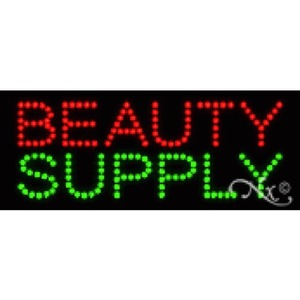 "LED Sign - Beauty Supply 8""H x 20""W x 1""D (22016)"