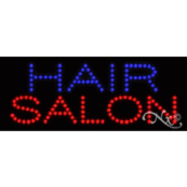 "LED Sign - Hair Salon 8""H x 20""W x 1""D (22076)"