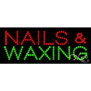 "LED Sign - Nails & Waxing 8""H x 20""W x 1""D (22109)"