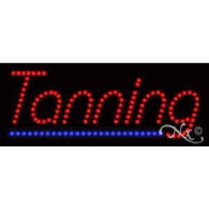 "LED Sign - Tanning 8""H x 20""W x 1""D (22169)"