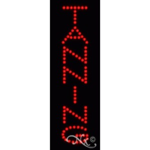 "LED Sign - Tanning 21""H x 7""W x 1""D (22305)"