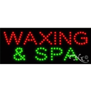 "LED Sign - Waxing & Spa 8""H x 20""W x 1""D (22343)"