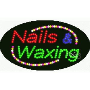"LED Sign - Nails & Waxing 15""H x 27""W x 1""D (24018)"