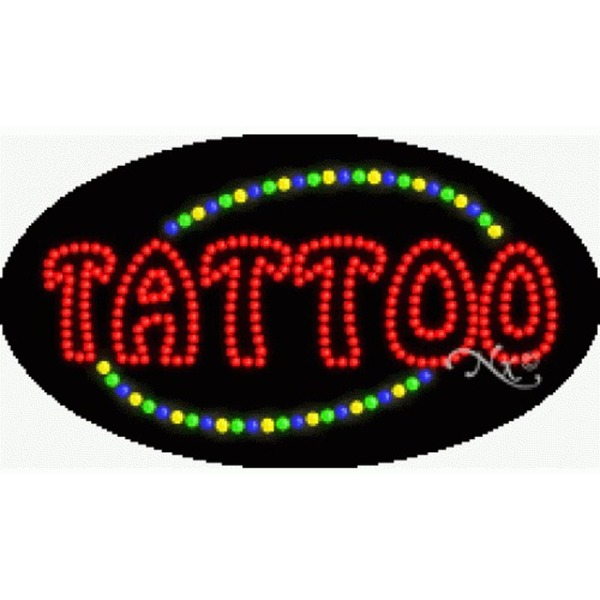 "LED Sign - Tattoo 15""H x 27""W x 1""D (24080)"