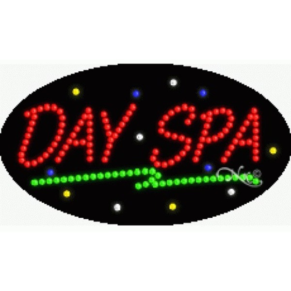 "LED Sign - Day Spa 15""H x 27""W x 1""D (24185)"