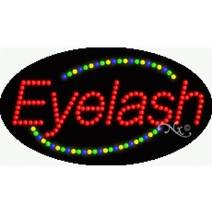 "LED Sign - Eyelash 15""H x 27""W x 1""D (24341)"