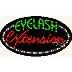 "LED Sign - Eyelash Extension 15""H x 27""W x 1""D (24386)"