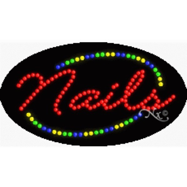"LED Sign - Nails 15""H x 27""W x 1""D (24458)"