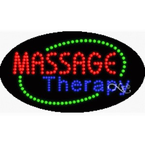 "LED Sign - Massage Therapy 15""H x 27""W x 1""D (24484)"