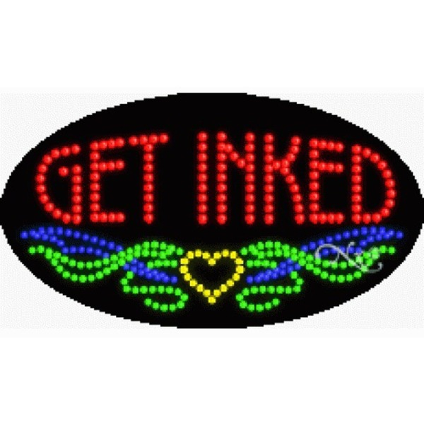 "LED Sign - Get Inked 15""H x 27""W x 1""D (24523)"