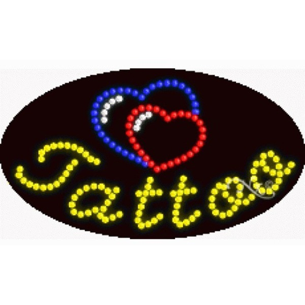 "LED Sign - Tattoo 15""H x 27""W x 1""D (24563)"