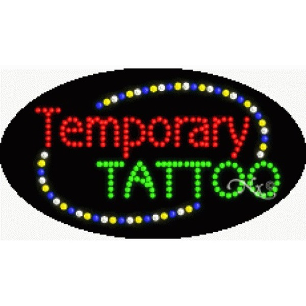 "LED Sign - Temporary Tattoo 15""H x 27""W x 1""D (24564)"
