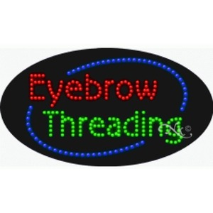 "LED Sign - Eyebrow Threading 15""H x 27""W x 1""D (24585)"