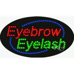 "LED Sign - Eyebrow Eyelash 15""H x 27""W x 1""D (24622)"