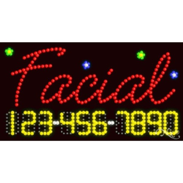 "LED Sign - Facial 17""H x 32""W x 1""D (25002)"