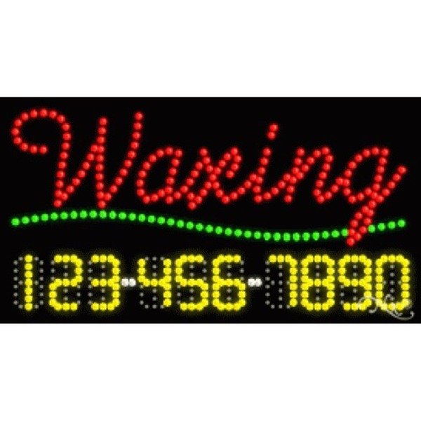 "LED Sign - Waxing 17""H x 32""W x 1""D (25015)"
