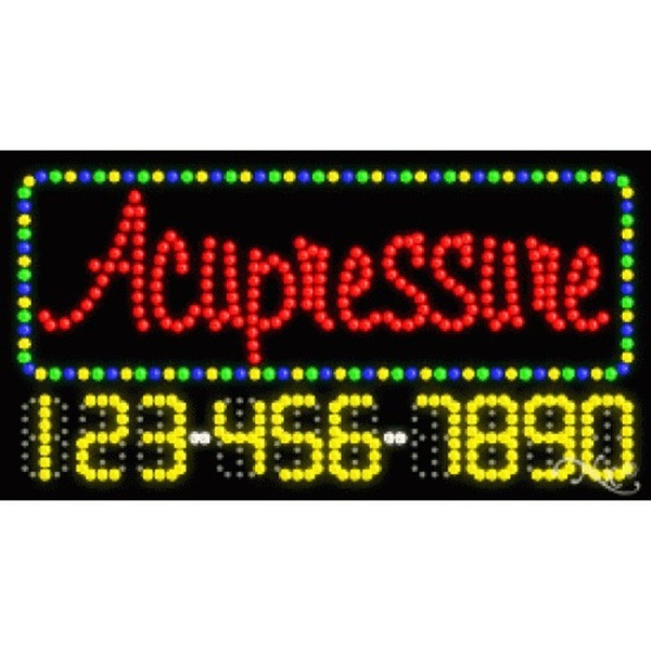 "LED Sign - Acupressure 17""H x 32""W x 1""D (25037)"