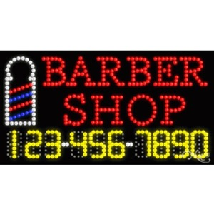"LED Sign - Barber Shop 17""H x 32""W x 1""D (25047)"