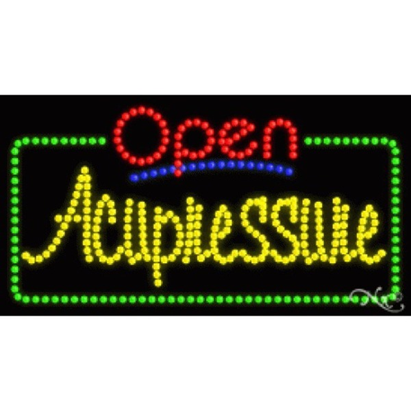 "LED Sign - Acupressure Open 17""H x 32""W x 1""D (25442)"