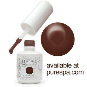 Gelish Color Coat: Sweet Chocolate 0.5oz. - 15mL. - Gelish Soak Off Gel Nail Polish (01340)