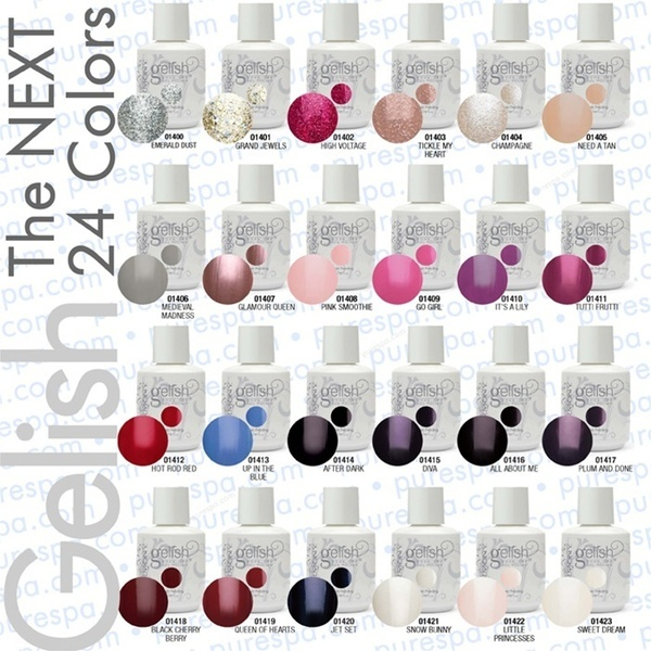 Bundle of The New 24 Gelish Colors - Gelish Soak Off Gel Nail Polish by Nail Harmony