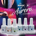 Bundle of The New 6 Gel Effects for all Gelish Colors - Aurora Magic Collection - Gelish Soak Off Gel Nail Polish by Nail Harmony
