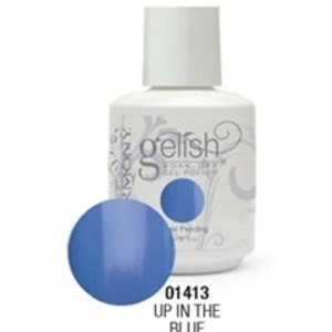 Gelish Color Coat: Up In The Blue / 0.5 oz. - 15 mL. - Gelish Soak Off Gel Nail Polish by Nail Harmony <font color=#FFFFFF>(01413)</font>