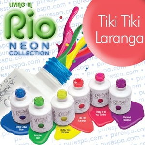 IN STOCK! Tiki Tiki Laranga / 0.5 oz. - 15 mL. - Living in Rio Neon Collection - Gelish Soak Off Gel Nail Polish by Nail Harmony