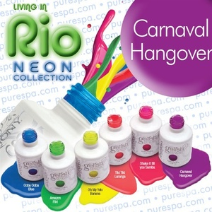 IN STOCK! Carnaval Hangover / 0.5 oz. - 15 mL. - Living in Rio Neon Collection - Gelish Soak Off Gel Nail Polish by Nail Harmony