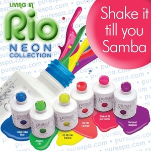 IN STOCK! Shake it till you Samba / 0.5 oz. - 15 mL. - Living in Rio Neon Collection - Gelish Soak Off Gel Nail Polish by Nail Harmony