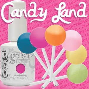 Bundle of The New 6 Gelish Colors - Candy Land Collection -Sprint 2012 - Gelish Soak Off Gel Nail Polish by Nail Harmony